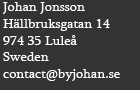 Contact information of Metal sculptures junk artist Johan P. Jonsson