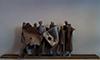 Skulptur i metall till salu: Delegationer (21x53x13 cm)