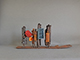 Buy new modern sculpture; world famous sculptures: On Display III 23x51x12 cm