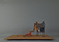 Buy metal sculptures by famous artist: Walking The Dog, 19x46x29 cm